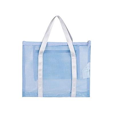 MINISO Plastic Mesh Handbag Transparent Totes Shoulder Bag for Women
