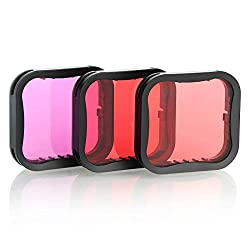 CAOMING Square Housing Diving Color Lens Filter for GoPro HERO8 Black Durable Color : Red