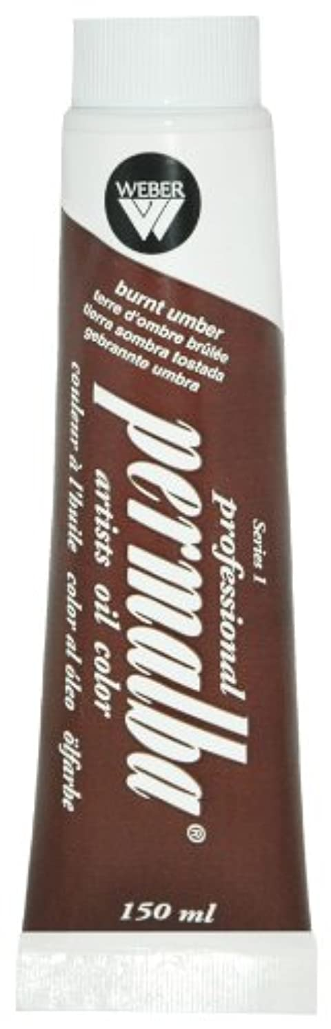 Permalba 150-Ml Artist Oil Color, Burnt Umber