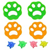 Lavadora Bola de Lavado, Depiladora de Mascotas,Quitapelos Mascotas, Lavandería Mascota Removedor,Filtros de Pelusa de Reutilizables para Pelo de Perro, Piel de Gato y Todas Las Mascotas (8 Piezas)