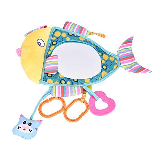 Espejo de juguete de asiento de coche con forma de pez, espejo de juguete de acrílico para bebé, recién nacido inastillable para cuna para niño infantil