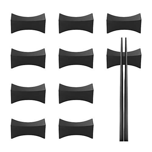 Essstäbchen Ablagen 10 Stück Fiberglas Essstäbchen Halterung Schwarz Besteck Ablage für Tisch Asiatisches Besteck Set Restaurants Zubehör