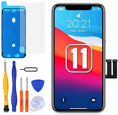 E-SUNG Commercio per iPhone 11 Schermo di Ricambio Display LCD Digitizer Touch Screen Assembly Tool 6.1 pollice Kit di Riparazione Completo per A2221 A2111 A2223