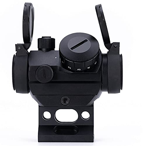 Aimsniper Red dot Sight Hunting Gun Rifle Scope with Flip Up Scope Covers and 1 Inch 20mm Riser Mount