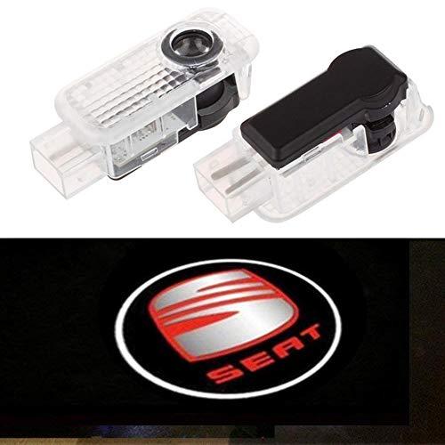 XIUJINGHONG Autotür Logo Einstiegsbeleuchtung Türbeleuchtung Einstiegsleuchte Projektion Licht 2 Stück (Seat)