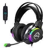 AZLlink ゲーミングヘッドセット 7.1ch PS4 ヘッドセット USBサウンドカード 軽量 有線 ゲーム実況 マイク付き FPS VR パソコン PC用ヘッドセット AL-ZH23