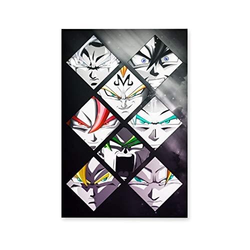Dragonball Z Mashup - Lienzo decorativo para pared, diseño abstracto