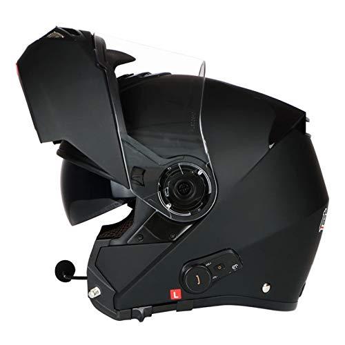 ZLYJ Casco De Motocicleta Bluetooth Modular Abatible hacia Arriba, Aprobado por ECE, Ligero, Street Bike Crash, Casco Modular, Cascos De Motocross para Jóvenes, Hombres Y Mujeres B,M(53-57cm)