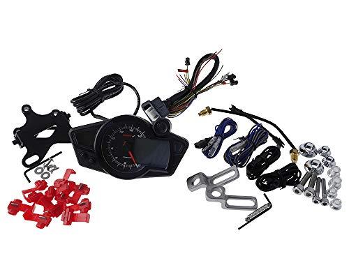Tachometer KOSO RX1N schwarz/weiss Universal 12 bis 360km/h