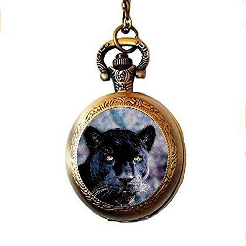 Black Panther Taschenuhr Halskette Vintage Kette Choker Statement Taschenuhr Halskette Schmuck Art of Taschenuhr Halskette
