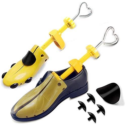 ZusFut 2PCS Hormas Zapatos Mujer Hombre Robusta Ensanchador de Zapatos Ajustable Longitud y Anchura Independiente Horma Ensanchar Zapatos (L: EU 40/47)