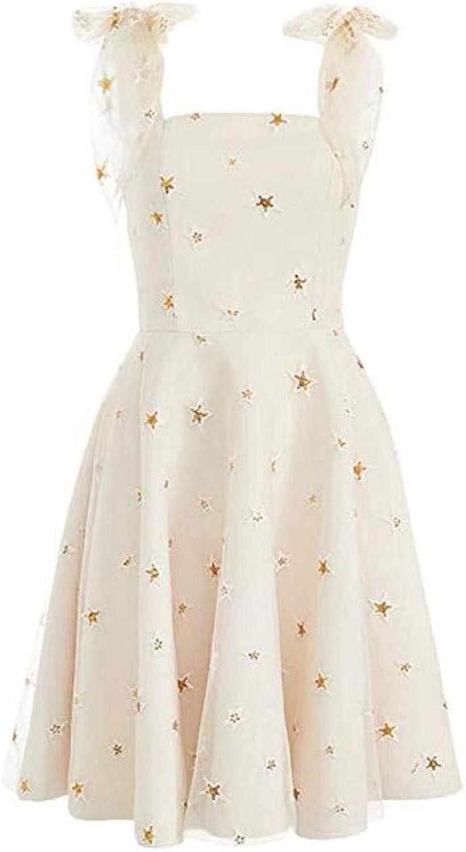 CTO Women's Sequins Stars Mesh Skirt Straps Strap Evening Dress Dress Ailin Home