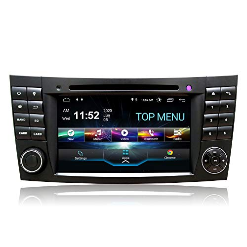 SWTNVIN DAB+ CarAutoPlay PX5 Android 10 Radio de coche estéreo GPS Navi Fits for Mercedes Benz Clase E W211 Clase G W463 CLK W209 CLS W219 Bluetooth DVD de 7'HD Touchscreen con WiFi SWC DSP 4GB+64GB