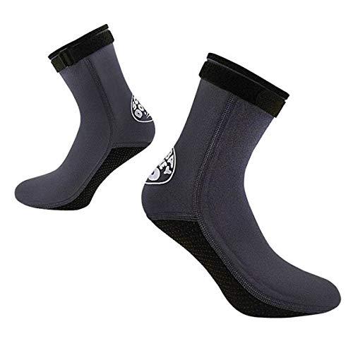 IPENNY Tauchsocken 3mm High Stretch Neopren-Socken mit Klettverschluss für Damen und Herren rutschfest Standsocken Water Socks Neoprenanzug zum Schwimmen Surfen Segeln Kajakfahren Wassersport