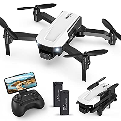 Holyton HT25 Mini Drone Foldable RC Quadcopter, Voice/Gesture Control, 720P HD FPV Camera, One Key Take Off/Landing, Altitude Hold, 3D Flip, 2 Batteries, Easy to Fly, Toy Drone Gifts for Kids & Adults