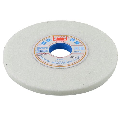 3340RPM 6 7/8' x 1 1/4' x 1/2' Abrasives Grinding Wheel Cutting Tool White