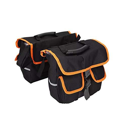 Ramingt-Home Motorrad-Satteltaschen Motorrad-Satteltaschen Seitentaschen Gepäckträger Hecksitztaschen Pack Gepäck Fahrrad Motorrad-Satteltaschen Werkzeugtasche (Color : Black, Size : 38x34x8cm)