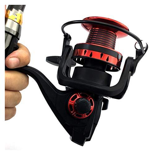 GUANGHEYUAN-J 10kg MAX Drag Spinning Carrete de Pesca con Carrete de Metal Cuerpo de Aluminio Rollo de Pesca de Spinning 5.2: 1