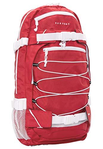 FORVERT Ice Louis Unisex Backpack sportlich-lässiger Daypack,Rucksack mit durchdachter Ausstattung in auffälligen Kontrastfarben,red,one Size
