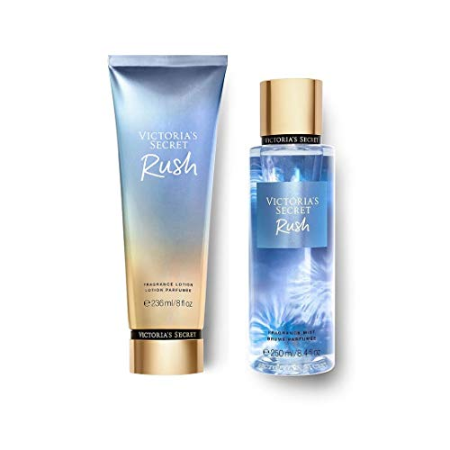 Set Victoria Secret Rush Fragance Body Mist 250 ML + Body Lotion 236 ML