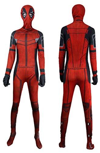 NVHAIM Avengers Deadpool 2 Medias Jumpsuits, Cos Wade Medias Sumpsuits Fancy Dress Up Combate Traje Halloween Cosplay Traje Juego Ajustado Niño Adulto,Adult XL