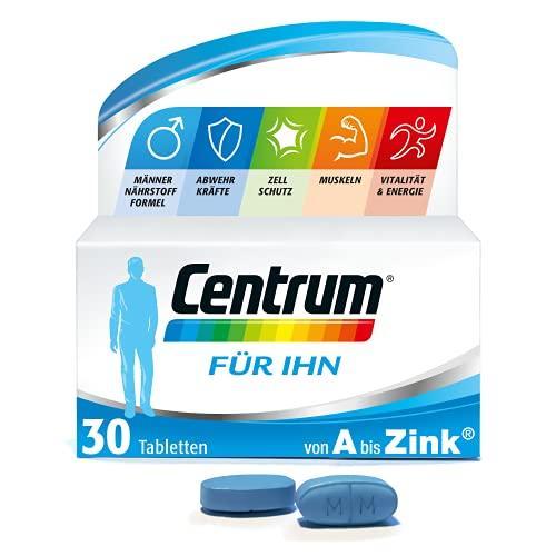Centrum Für Ihn Multivitamin, Von A bis Zink Nahrungsergänzungsmittel mit Vitamin D, C, B12, Magnesium, 30 Tabletten