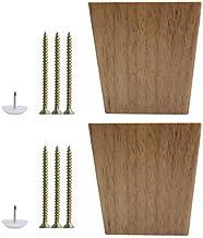 DealMux 3,1 inch massief houten meubelpoten vierkant kegel bank kast kabinet voeten vervanging hoogteverstelling set van 2
