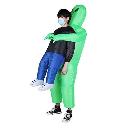 Boquite Romantisches Geschenk Aufblasbares Kostüm Halloween, Aufblasbares Alien-Kostüm, lustiges aufblasbares Halloween-Kostüm Cosplay Fantasy-Kostüm für Erwachsene Kid Festivals Party Dress Up Dec