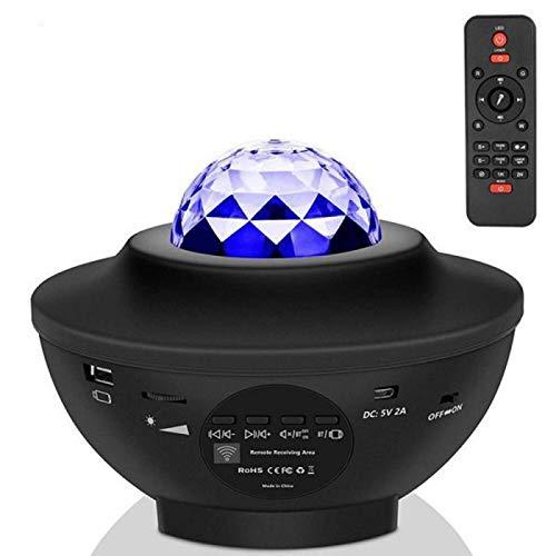 Proyector Estrella Led Radiador Proyector con Múltiples Modos de Control Remoto Luz Nocturna Led Altavoz Bluetooth Musical Incorporado Adecuado para Fiestas Dormitorios Salas de
