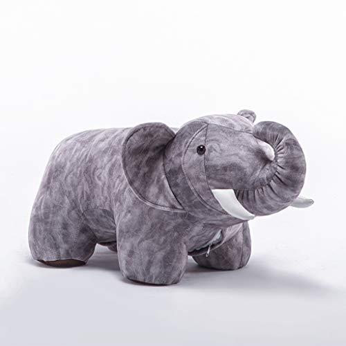 CSH Tier Hocker Elefant Sitzbank Schuhbank Möbel Sofa-Bench Hocker Kreative Tier Hocker Persönlichkeit Hocker for Children and Nursery (Color : Gray)