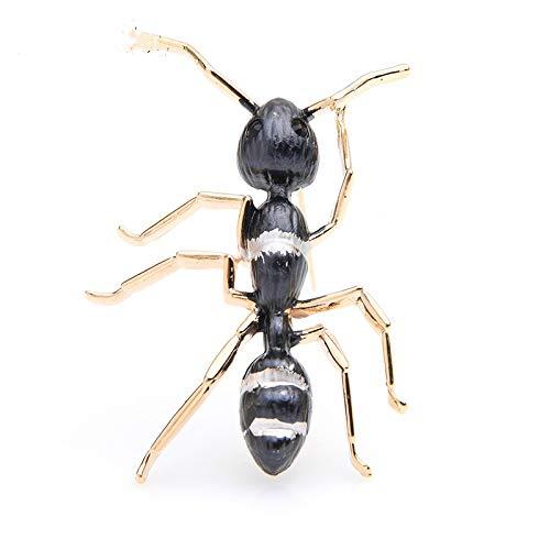 CLEARNICE Broches De Esmalte De Hormiga Negra, Alfileres De Broche De Fiesta De Banquete De Insectos Grandes De Aleación para Hombres Y Mujeres