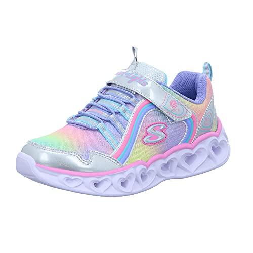 Skechers Mädchen HEART LIGHTS RAINBOW LUX Sneaker, Smlt , 36 EU (3 UK)