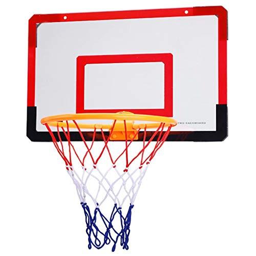 ZDNB Aro de Baloncesto Colgante Canasta Interior Mini Juego Familiar para niños Juego de Juguetes de Baloncesto, Canasta Colgante para Colgar en la Pared al Aire Libre, Rojo + Negro, 58cm × 40cm