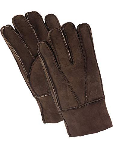 Harrys-Collection Damen Herren Handschuh aus Echtem Lammfell, Farben:dunkelbraun, Handschuhgröße:XL