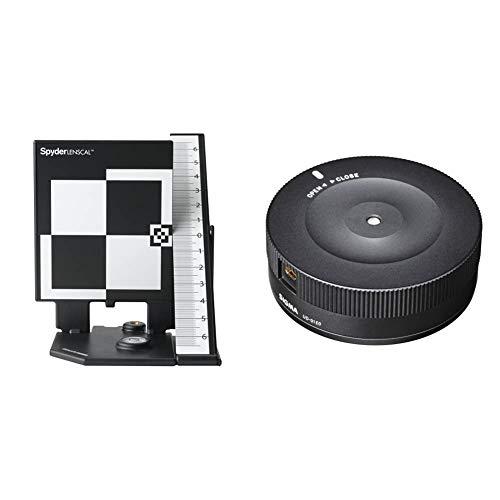 Datacolor SpyderLensCal Calibrador para cámaras Digitales, Negro, Color Blanco + Sigma USB Dock Canon USB Dock para Objetivos Sigma Montura Canon de la Serie Art