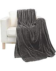 Soft Flannel Fleece Blanket, Dark Gray, Single Size, 200 * 160 cm
