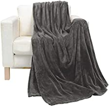 Soft Flannel Fleece Blanket, Dark Gray, King Size, 210 * 200 cm