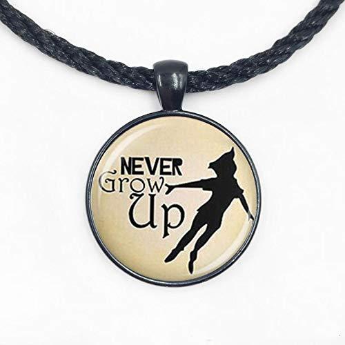 Collar Peter Pan, colgante de Neverland, segunda estrella a la derecha
