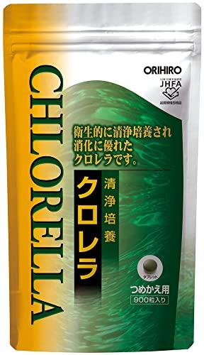 オリヒロ オリヒロ オリヒロ 清浄培養クロレラ詰め替え用アルミ袋 1セット(900粒×2個) サプリメント