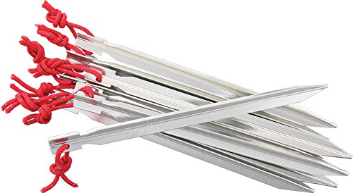 Vargo Lot de 8 piquets Summit en Aluminium - Gris - Taille 39