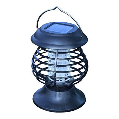 WAZA - Lampada antizanzare per campeggio, zanzare, a mano, impermeabile, IP65, ricarica solare, luce a LED, bicolore, per uccidere zanzare, insetti, per esterni, giardino, casa, scuola, hotel