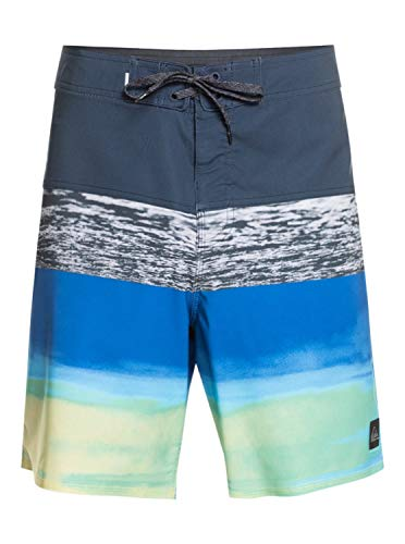Quiksilver Surfsilk Panel 18' Bañador para Hombre, Azul Marino (Navy Blazer), 36
