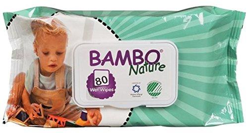 Bambo Nature Toallas para bebé, 4 x 80 s.