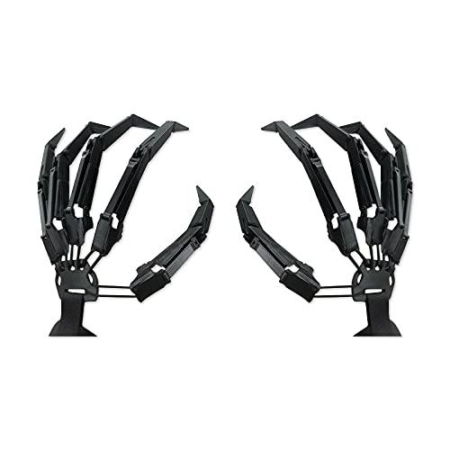 Moanyt Gelenkhandschuhe, Halloween 3D Fingerverlängerung Handschuhe Cosplay Krallen Extender tragbar, Horror Skelett Handknochen, für Halloween Kostüm Requisiten