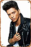 Yitachi Bruno Mars Portrait Poster Celebrities & Musicians 12' X 8' Vintage Metal Tin Sign