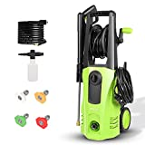 Bigzzia 3500 PSI Car Power Washer Kit,2.6GMP Electric Pressure Washer 1800W High Pressure Cleaner Machine with 4 Nozzles ,Suitable for Cars,Homes,Driveway,Patios.