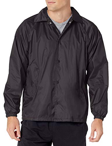 Augusta Sportswear Men's Nylon Coach's Jacket/Lined, Black, X-Large