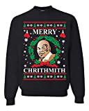 Wild Bobby Merry Chrithmith Mike Tyson Ugly Christmas Sweater Unisex Crewneck Sweatshirt, Black, X-Large