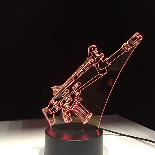 Lampada 3D Scar Wars A Led Lampada A Umore Variabile 7 Colori Luce Touch Control Base Luce Notturna Fredda Luci Natalizie Per Regali Di Compleanno