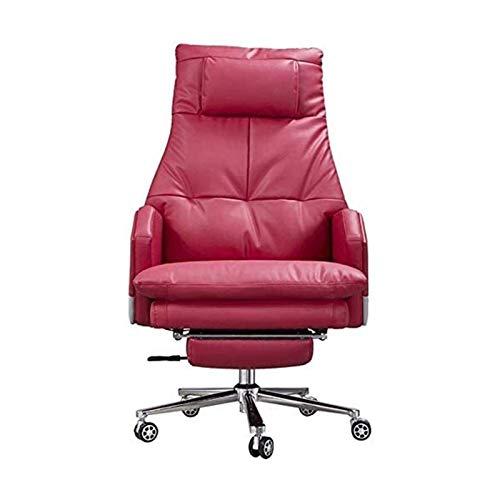 Drehbarer Arbeitsstuhl Executive Chair Drehbarer Bürostuhl Höhenverstellbarer Leder Extra gepolsterter Heimcomputer